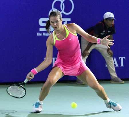 Croatia's Ajla Tomljanovic was the surprise of the tournament and looks set to have a bright future in the game. (Photo/PTT Thailand Open)