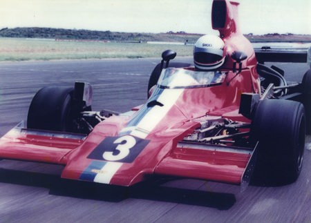 Dr. Iain test drives a Lola T 430 Formula 5000 in Melbourne, Australia.