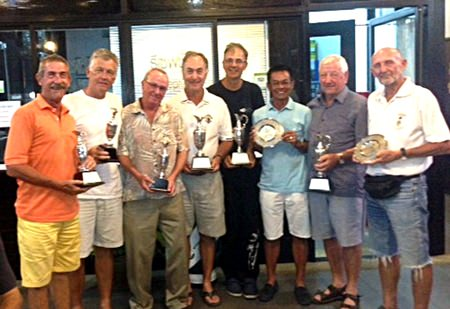 PGS winners at the IPGC Championship: (L-R) Murray Edwards, Rick Schramm, Dave Moriarty, Brian Beaupre, Niall Caven, Wichai Tananusorn, Mike Earley and Len Jones.