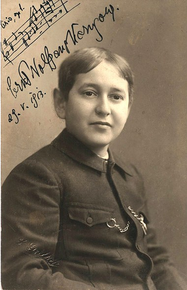Erich Wolfgang Korngold on his 16th birthday.