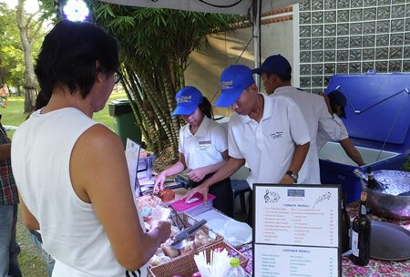 Casa Pascal's catering staff were kept busy feeding the hundreds of music lovers in attendance.