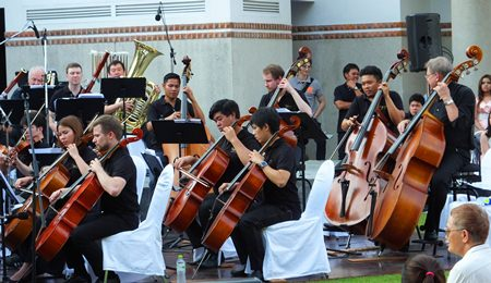 The Thailand Philharmonic Orchestra in full flow.