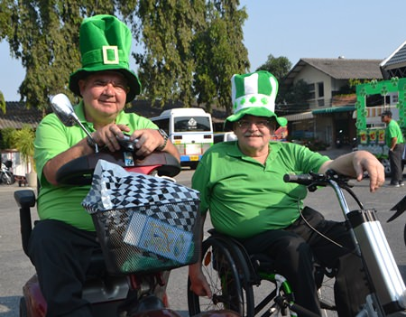 Two Irish gents get into the spirit of St Patrick's Day despite life's challenges.