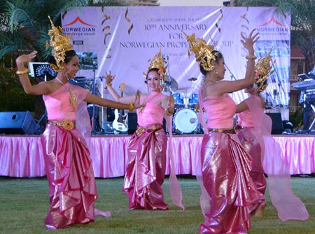KC Dance Studio performs a traditional Thai dance much to the delight of the audience.