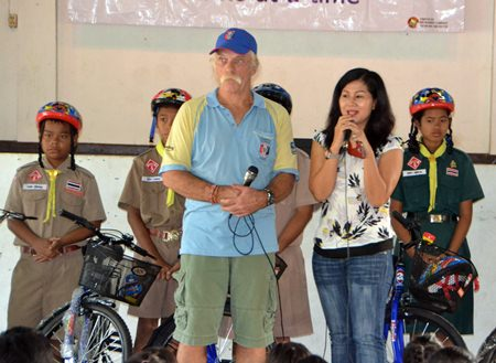 Noi Emmerson, Pattaya Sports Club charity chairperson speaks of the PSC's dedication to charity for underprivileged children.