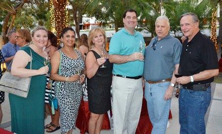 (L to R) Denny Medervilt, Daksha Golil, Mary Adams, John Mcdevitt, Steve Adams and Harold Rieniets make for a happy crew.