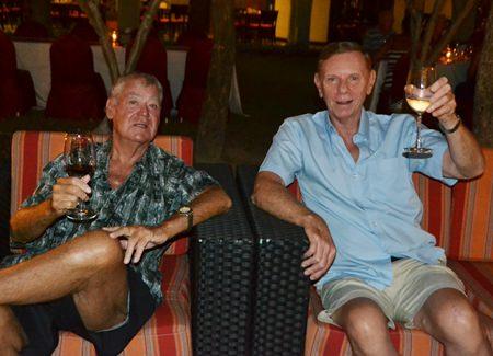 Cheers! Darid Senkner and Doug Breeze.