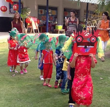 The fantastic Early Years Dragon Parade.