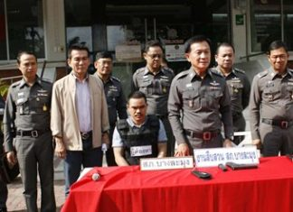 """Lone Samsung and his brother Roj Samsung were captured in separate arrests for allegedly conspiring to kill """"Tee Takientia"""" in Naklua last month."""