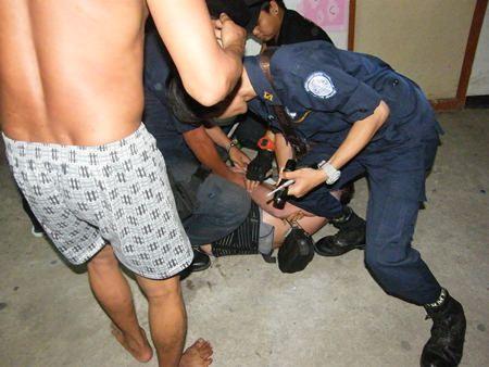 Police take down Gary Arne Roger Gronberg.