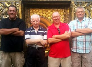 (Left to right): Repeat winners Tony Pike, Joe McArdle, George Cullen and Shaun Merriman.