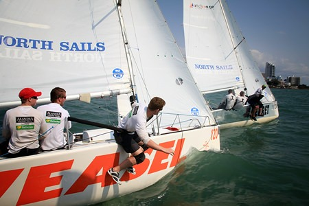Platu 25 class boats provided a great platform for the teams to show off their sailing skills.