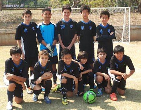 The U13 football team.