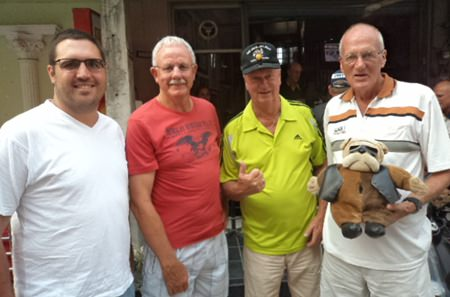 (L-R): Tom McMahon, Eric Black, Martin Todd & Alan Sanders.
