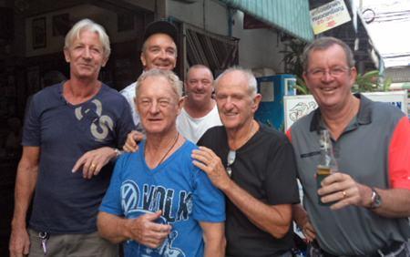 (Front L-R): Patrick Poussier, John Coetzee, Frank Riley & Kev Waycott, (Back row) Jerry Dobbs & Andrew Allen.
