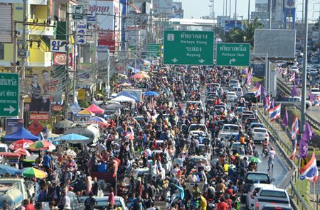 Trying to enter Pattaya was almost impossible from Sukhumvit.