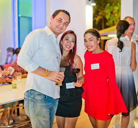Dimitri and TK from Siam @ Siam Hotel flank the lovely Amy from Centara Grand Phratamnak.
