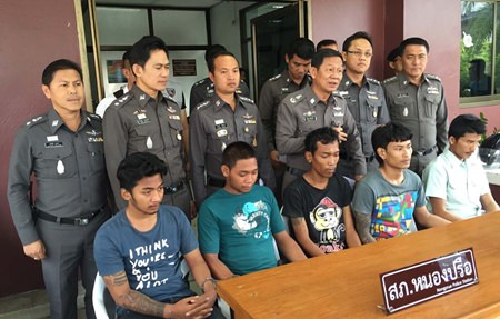 Chonburi police have arrested five alleged motorcycle thieves.