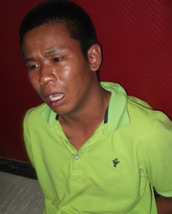 Narong Chanrasamee allegedly confessed to snatching a handbag from a Russian tourist.
