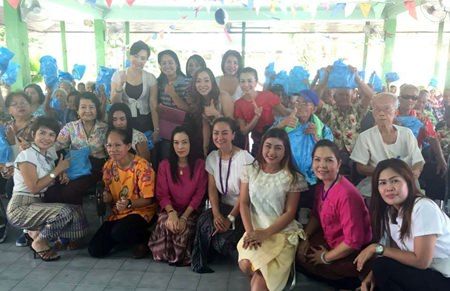 Members of the YWCA donated over 300 kits of needed items worth 30,000 THB to the elders of the home.