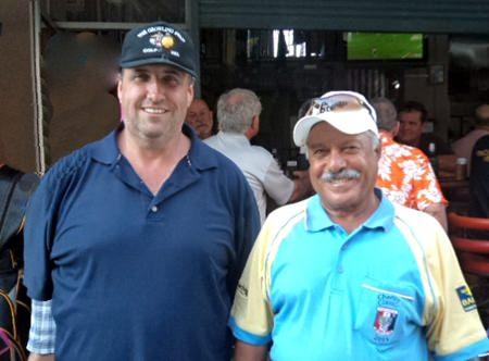Kevin Morris (left) with Ebrahim Al-Ansari.