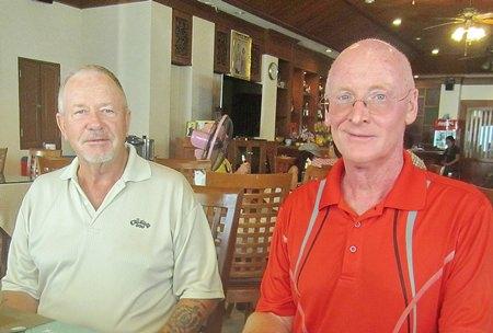 Barry Elphick and Graham Buckingham.