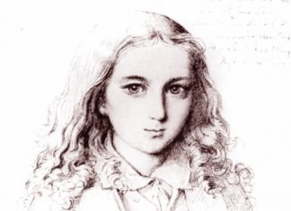 The slightly androgynous 12-year-old Mendelssohn.