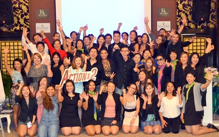 The Riviera Group Pattaya gathered 40 real estate salespersons to attend the marketing seminar at the D Varee Jomtien Hotel on May 12.