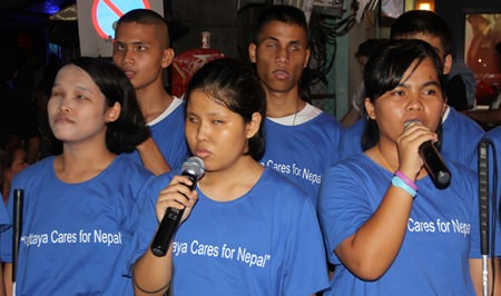 When the blind students sang Amazing Grace, Walking Street came to a standstill.