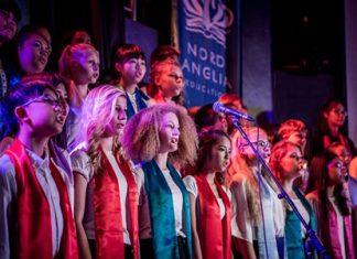 Regents' Choir belting it out!