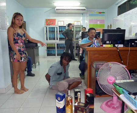 Pattapong Arunchai was charged with trespassing after breaking into a single family home and trying to make off with 7 bottles of booze, but passing out drunk first.