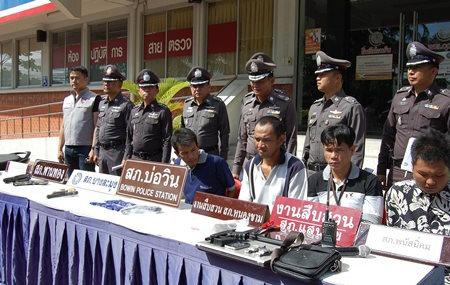 Police arrested 74 people and seized more than 5,000 methamphetamine tablets, 1.9 grams of crystal methamphetamine, six guns, 16 bullets, and 30 motorbikes in a province-wide crime sweep May 21.