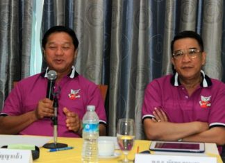Pol. Maj. Gen. Kamrob Punyakaew (left) and Pol. Col. Nattapol Sukrasorn (right) speak of the D.A.R.E. project.