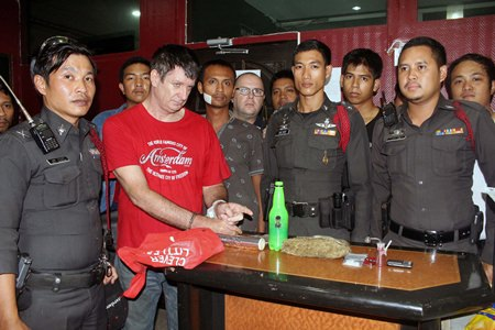Australian David Andrew Vreeken was apprehended in his Soi Khopai room and charged with possession of Class 1 and Class 5 narcotics.