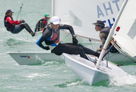 Sailing in the dinghy classes was close with more than 40 competitors this year.