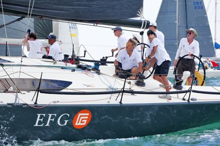 EFG Mandrake was competing in the Top of the Gulf Regatta for the first time.