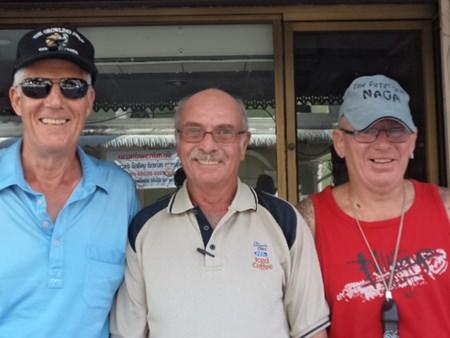 (Left-right) Gordon Clegg, John Anderson and Tony Campbell.