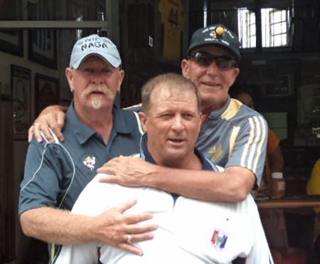 (Left-right) Peter Grey, Graham Rice & Russell Calcutt.