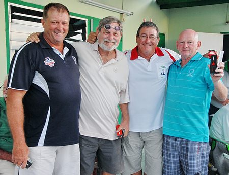 Fourth in the standings, Mike Winfield, Stuart Rifkin, Paul Avery and Graham Rice.