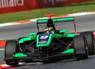 Sandy Stuvik drives his Status GP car during the opening race of the Formula GP3 series at the Circuit De Catalunya-Barcelona Spain, Saturday, May 9. (Photo/GP3 Media)