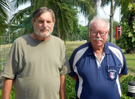 Mike Winfield (left) with Dave Richardson.