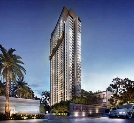 An artist's rendering shows the exterior façade of Unixx South Pattaya.  The project is due for completion by the end of 2015.