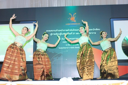 Students from Pattaya City School #11 perform for the assembly.