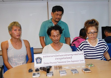 (L to R) Inran Radvichai, Tienchai Srimarksuk, and Rungthiwa Singchai have been arrested on drugs offenses.