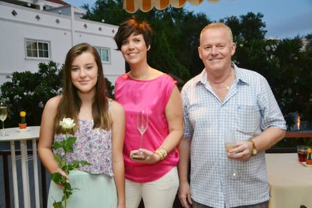 It's a family affair. (l-r) Erika with mummy Jeanette and grandpa Gundmund.
