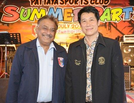 President Peter welcomes Pattaya City councilor Banchong Banthoonprayuk.