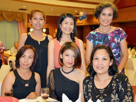The lovely ladies of PSC (standing l-r) Suksophee (Lek), Nantida Thepsai (Tida) PSC office manager, Shonasan Lomachaem (Nam). (sitting l-r) Kasamol  Promkoon (Molly), Pajaree Srichart (Candy), Supawadee Suwannachairob (Wao).