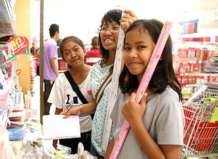 The Camillian kids certainly look forward to the Christmas shopping at Big C in Rayong every year.