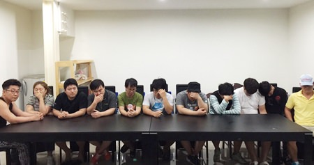 Eleven South Koreans were arrested for allegedly operating three online-betting operations in Pattaya.