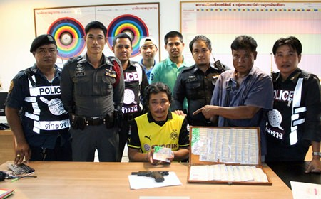 Chaiwichit Chaina was arrested for robbing a disabled lottery vendor at (fake) gunpoint whilst intoxicated.